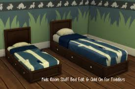 Kids Room Stuff Bed Edited Add On For Toddler At Chillis Sims Sims 4 Updates