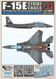 Dxm Decal 1 32 Mcdonnell Douglas F 15e Strike Eagle 4fw S 75th Anniversary Ebay