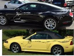 2015 2017 Ford Mustang Crazy Horse Side Body Decal