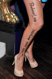 Znane Polki Z Tatuazem Na Nodze Moda