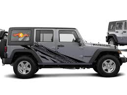 Product Tire Track Theme Splash Stars Graphic Decal For 07 17 Jeep Wrangler Unlimited Jk 4 Door
