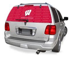 Wisconsin Badgers Decals Wisconsin Badgers Window Graphics Wisconsin Badgers Ncaa Logo Rearz Back Windshield Decals
