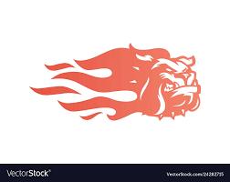 Bulldog Fire Logo Icon For Branding Car Wrap Vector Image