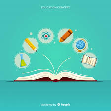 education concept with flat design