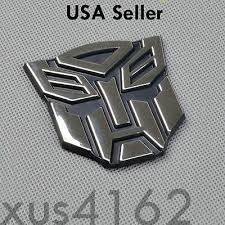 3d Chrome Autobot 2 Inch Transformers Emblem Badge Decal Car Stickers Truck Ebay
