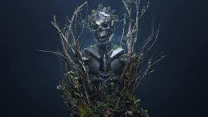 fantasy art skeleton crown hirokazu