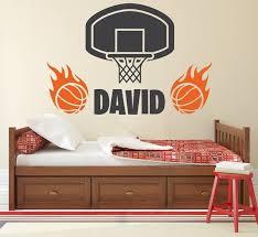 Custom Name Wall Decal Basketball Wall Art Decal Kids Boys Etsy