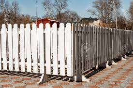 White Wooden Fence Rails Stock Photo Picture And Royalty Free Image Image 124267276