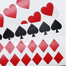 Amazon Com 40 Suit Playing Cards Decals Vinyl Card Symbol Suite Wall Decor Envelope Seals Removable Wallpaper Poker Night Stickers Vinyl Cards Handmade