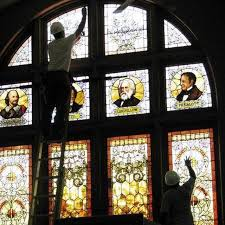 remove stained glass paint from windows
