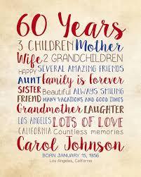 birthday gift for mom 60th birthday