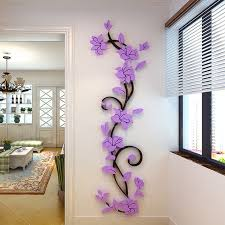 3d Vase Flower Tree Diy Removable Wall Decal For Living Room Free Shipping Wall Stickers Art