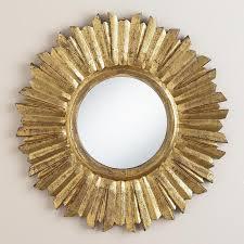 small antique gold leila sunburst mirror