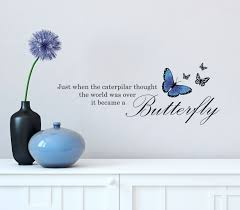 The Decal Store Com By Yadda Yadda Design Co Wall Alice In Wonderland Butterfly Quote Vinyl Deca Butterfly Quotes Wall Quotes Decals Vinyl Wall Quotes