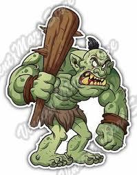 Green Troll Monster Angry Cartoon Gift Idea Car Bumper Vinyl Sticker Decal 4 X5 Ebay