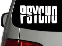 Psycho Alfred Hitchock Vinyl Decal Car Wall Window Sticker Choose Size Color Ebay