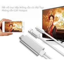Cáp HDMI xuất hình ảnh Full HD cho iPhone iPad không cần App và Wifi  Hotspot (1.8m)