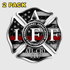 Thin Red Line Iaff Decal Firefighter Cross Sticker