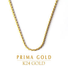 prima gold japan pure gold necklace
