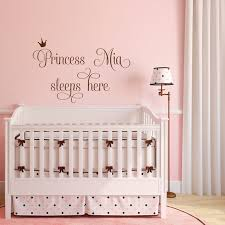 Personalized Princess Sleeps Here Wall Decal For Baby Girl Etsy