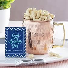 copper mug with cashews gift send