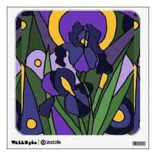 Colorful Blue Iris Floral Art Wall Decal Iris Flowers Blue Wall Art And Www Zazzle Com Inspirationrocks Abstract Floral Art Floral Wall Decals Floral Art