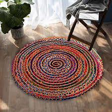 cotton jute area rug chindi rag rug