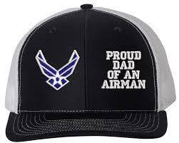 Proud Dad Of An Airman U S Air Force Mesh Back Cap