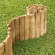 Softwood Economy Garden Border Log Roll 1 25m Homebase