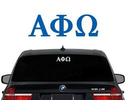 Aphio Alpha Phi Omega Greek Letters Fraternity Decal Laptop Sticker Car Decal Sorority Decals Sigma Alpha Iota Greek Sorority Letters