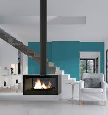 contemporary freestanding fireplaces