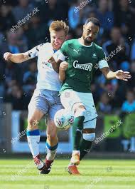 Byron Moore Plymouth Argyle under pressure Tom Editorial Stock ...