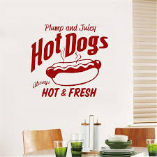 Hot Dog Wall Decal Restaurant Vinyl Wall Sticker Sign Quote Food Winow Wall Decals Home Art Decor Removable Modern Mural Make Your Own Wall Decals Make Your Own Wall Stickers From Onlinegame