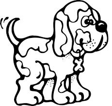 Dieren Kleurplaten Een Kwiskellende Hond