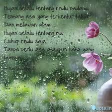 hujan selalu tentang rind quotes writings by kartika