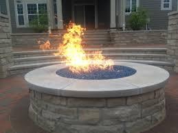 custom fire pit conversion to fireglass
