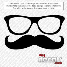 Car Decals Car Stickers Glasses And Mustache Car Decal Anydecals Com