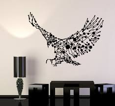 Vinyl Wall Decal Abstract Eagle Flying Big Bird Patriot Art Decor Stic Wallstickers4you