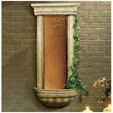 wall water fountain with bronze mirror