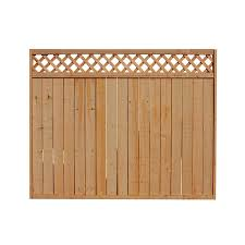 6 Ft H X 8 Ft W Western Red Cedar Lattice Top Fence Panel In The Wood Fence Panels Department At Lowes Com