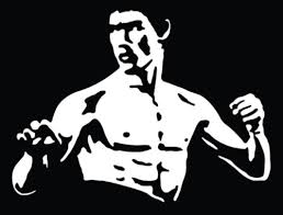 Bruce Lee Vinyl Decal Sticker Texas Die Cuts