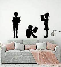 Vinyl Wall Decal Reading Children S Kids Library School Book Stickers G2863 Ebay