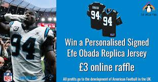 Personalised Signed EFE OBADA Replica Jersey!! - Gridiron Hub