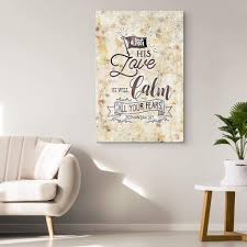 Bible Verse Wall Art Zephaniah 3 17 With His Love He Will Calm All Your Fears Canvas Christ Follower Life