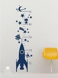 Rocket Spaceship Growth Chart Wall Decal Vinyl Wall Sticker Art Ebay