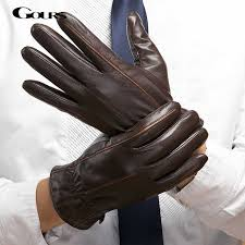 genuine leather gloves goatskin mittens