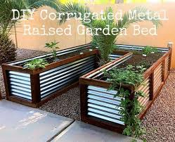 diy corrugated metal raised garden bed