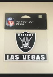 Las Vegas Raiders 4 X5 Cut Car Decal Nfl Auto Sticker Emblem For Sale Online Ebay
