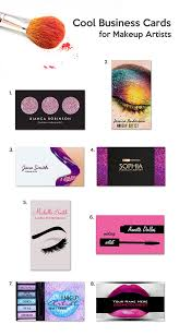 cool business cards for makeup artists