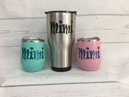 Mimi Tumbler Mimi Wine Glass With Lid Stainless Steel Etsy Mimi Gift Mimi Personalized Gift Items